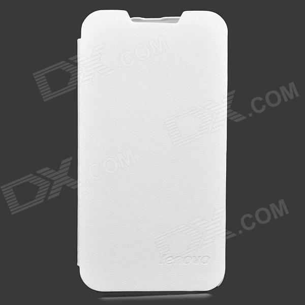 Lenovo Flip Open Protective PU Leather Case Cover for P770 - White