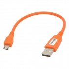 MCC-24 Universal Male USB to Micro USB Data Sync & Charging Cable - Orange (25cm)