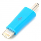 DC 3,5 mm auf 8-Pin Blitz Ladeadapter für iPhone 5 / iPad 4 / Mini / iPod Touch 5 - Blau