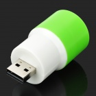 5V portable 1W 78lm 3-Mode USB Mobile Power Head Light - Blanc + vert