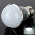E27 3W 270LM 6000K 3-LED White Light Bulb - Silber + Weiß (AC 85 ~ 240V)