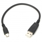 Universal USB to Micro USB Data / Charging Cable for Cell Phone / MP3 / MP4 - Black