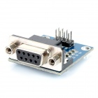 RS232 to TTL Serial Communications Module w/ Indicator – Blue + Black