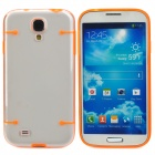 Protective Noctilucent Plastic Case for Samsung Galaxy S4 i9500 - Orange + Transparent
