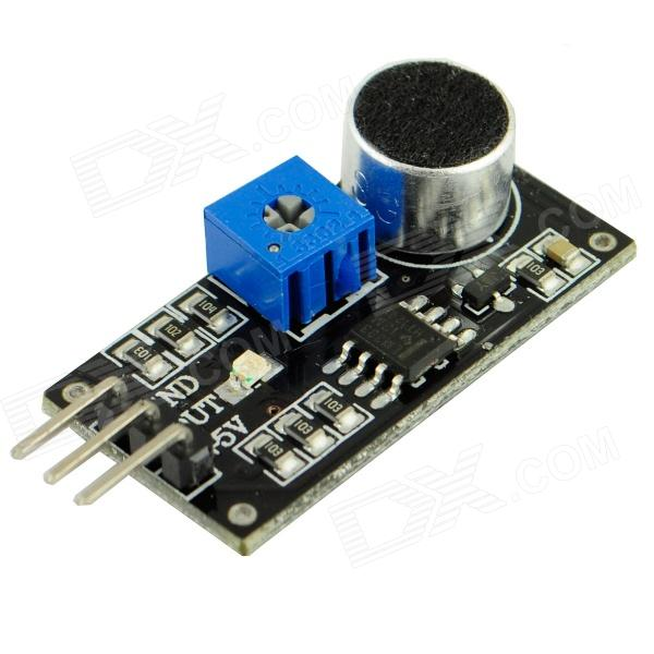LM393 Sound Detection Sensor Module - Black