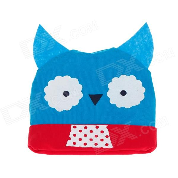 Cute Cartoon Style Baby Hat Cap - Blue + Red + White
