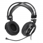 E-3LUE EHH007 3.5mm Jack Stereo Headphone w/ Microphone - Black