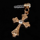 Cross Style Drill+X Alloy + Plastic 3.5mm Anti-dust Plug for Iphone 4S + More - Golden
