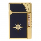 High Quality Zinc Alloy Butane Lighter - Golden + Black
