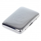 SHUANGQIANG Stainless Steel Cigarette Case - Silver (Holds 16 PCS)