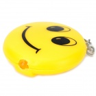 Creative Smile Face Style LED Light Keychain - Yellow +Black