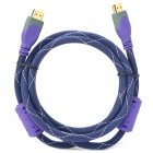MILLONWELL 24K Gold Plated HDMI V1.4 Male to Male Connection Cable - Purple + Grey (1.5m)