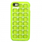 Soft Bubble Style Protective TPU Back Case for Iphone 5 - Yellow Green