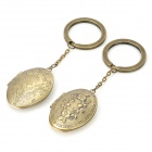 Retro Style Photo Case Keychain - Bronze (2 PCS)