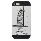 BurjAl-Arab Pattern Detachable Protective PC Back Case for Iphone 5 - Black + White