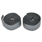 PCIMIZ A332 Cycling Bike Bicycle Handlebar EVA Tape Belt Wrap w/ Bar Plug - Gray (2 PCS)