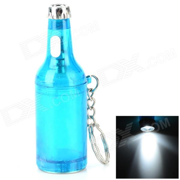 Beer Bottle Shaped White Light LED Keychain Bottle Opener - Blue + Silver (3 x LR41) apes love gadgets slm 2 antique key style beer bottle opener black dark grey