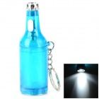 Beer Bottle Shaped White Light LED Keychain Bottle Opener - Blue + Silver (3 x LR41)