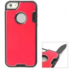 Multifunction Protective Stainless Steel + ABS Back Case w/ Tool Set for Iphone 5 - Red