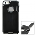 Multifunction Protective Stainless Steel + ABS Back Case w/ Tool Set for Iphone 5 - Black