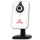 KARE N6704JV-P2P 300KP CMOS Wireless Wi-Fi Network Surveillance IP Camera w/ 9-IR LED - White
