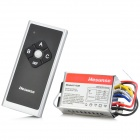 Hesunse Y-C3E 3-Way Wireless Digital Remote Control Switch Silver + Red (180~250V)