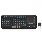 ipazzport  KP-810-10A Germany + English Language Mini Wireless 83-Keys Keyboard - Black