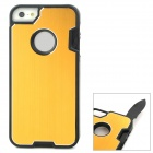 Multifunction Protective Stainless Steel + ABS Back Case w/ Tool Set for Iphone 5 - Yellow