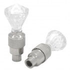 Cool Universal Vibration Induction Colorama Air Valve Mouth Light - Silver + Transparent (1 Pair)