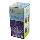 E27 3W  1-LED RGB Light Sound-Activated Rotating Stage Bulb - Transparent + Blue (AC 85~260V)