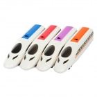 FA-18 High-speed Train Style Mini ABS Handheld Fans - Red + Blue + Purple + Orange (2 x AAA)