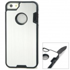 Multifunction Protective Stainless Steel + ABS Back Case w/ Tool Set for Iphone 5 - Silver
