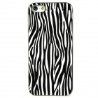 Zebra Pattern Protective Plastic Back Case for Iphone 5 - Black + White