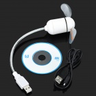 Flexible USB Powered LED Light Fan - White + Silver