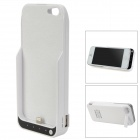 External 4500mAh Power Battery Charger Back Case w/ USB Output for iPhone 5 / Cell Phone - White
