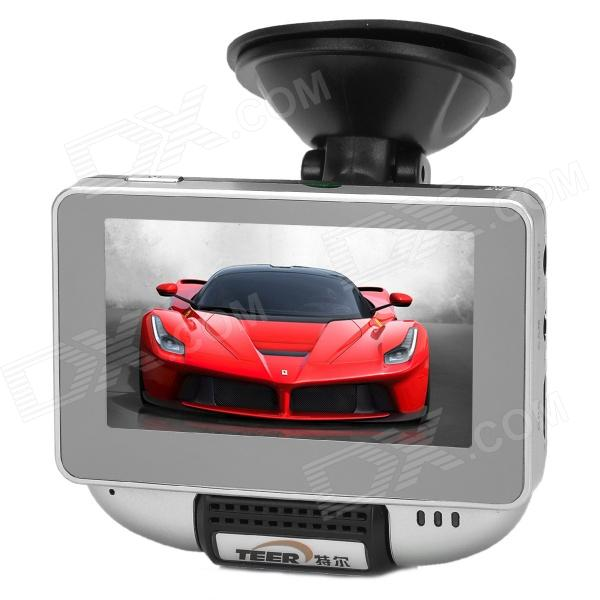 "TEER H7120 HD 720P 3.0"" TFT Touch Screen Dual Camera Wide Angle Car DVR w/ GPS / TV-out / 4-IR LED"