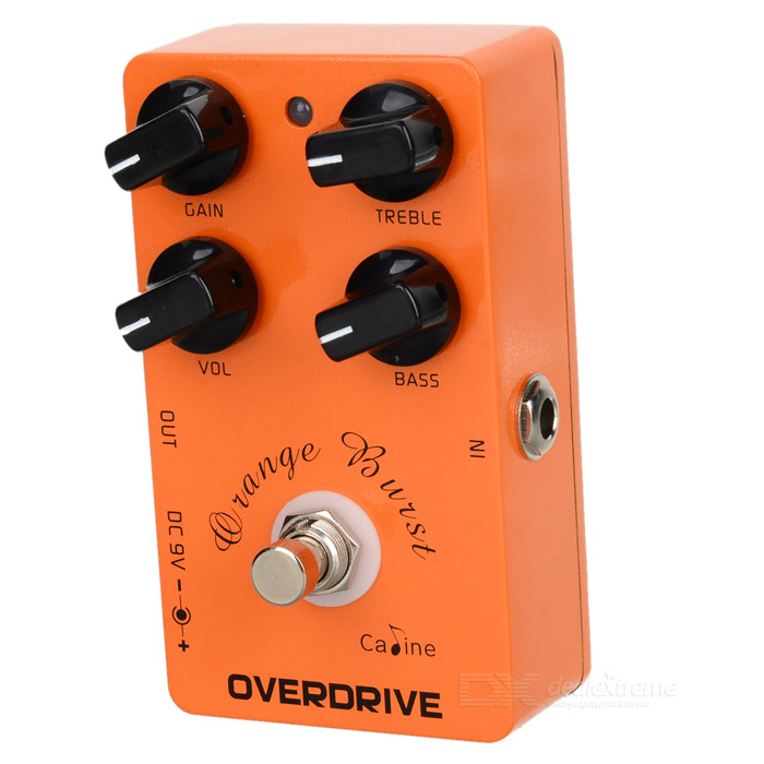 Caline CP-18 Electric Guitar Overdrive Guitar Effect Pedal - Orange + Black + Silver electric guitar wiring harness kit 3 way toggle switch 1 volume 1 tone 500k pot electric guitar parts accessories 2 humbucker