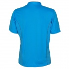 Naturehike-NH Stand Collar Quick Drying Short Sleeve T-Shirt - Blue (Size XL)