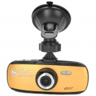 "HD 1080P 2.7"" TFT 3.0MP CMOS Wide Angle Car DVR w/ Mini HDMI / 2-LED / AV-out - Black + Golden"