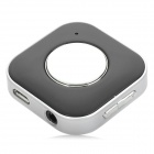 Rechargeable Mini Stereo Bluetooth V3.0 Receiver w/ Microphone - Black + Silver