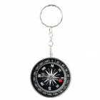 Creative Compass Style Keychain - Silver + Black