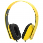 LANGSTON iM-8 Headband Stereo Headphones w/ Microphone - Yellow + Black (3.5mm Plug / 120cm-Cable)