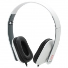 LANGSTON iM-8 Headband Stereo Headphones w/ Microphone - White + Black (3.5mm Plug / 120cm-Cable)