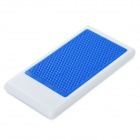 Light Portable Foldable ABS Desktop Holder Station for Iphone 4 / 5 / Ipad 3 / 4 - White + Blue