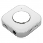 Rechargeable Mini Stereo Bluetooth V3.0 Receiver w/ Microphone - White + Silver