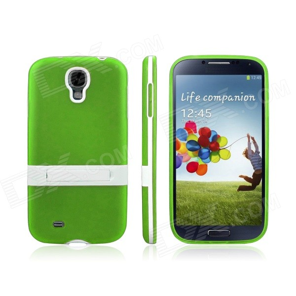 где купить ENKAY Protective Soft TPU + Plastic Case Cover for Samsung Galaxy S4 / i9500 - Green дешево