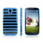 ENKAY Ladder Style Hollow Plastic Case Back Cover for Samsung Galaxy S4 / i9500 - Blue