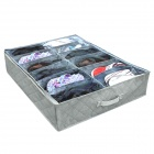Bamboo Charcoal Soft Folding 12-Compartment  Storage Box for Clothes / Shoes - Grey