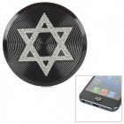 Hexagramm Pattern Aluminum Alloy Home Button Schutz für Iphone / Ipad / Ipod - Black + White