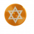 Hexagram Pattern Aluminum Alloy Home Button Protector for Iphone / Ipad / Ipod - Golden + White